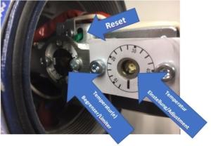 Abbildung 2 EX-Heizer Artikel-Nr. 1600210 Gehäuse_Casing blau_blue