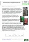 Positionsleuchte und LED-Streifen Notdusche